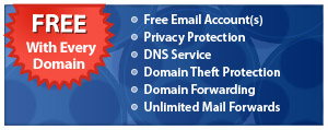 FREE! with every Domain Name